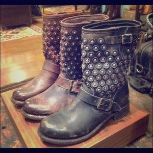 Beautiful black Frye studded boots - size 8.5.